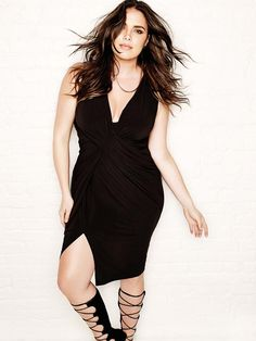 Candice Huffine's plus size fashion brand #LovedByCandice - thigh slit pencil dress | StyleCaster.com