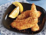 Crispy Pan-Fried Chicken Tenders : Most kids are hooked on breaded chicken of some sort. So here's a pan-fried version that's much healthier than drive-through or frozen-food options. Using chicken breast tenders makes these look like fast food, but you'll feel so much better about feeding them to your kids. The crispy, crunchy panko breadcrumbs lend incredible texture.