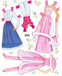 Site with Barbie paper dolls ~   Barbie - outfits