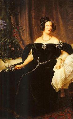 Princess Marianne of the Netherlands (detail) by Ferdinand Theodor Hildebrandt (Oranje-Nassau Museum, Gravenhage Netherlands)