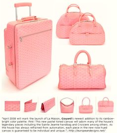 Musings of a Goyard Enthusiast: Goyard in pink