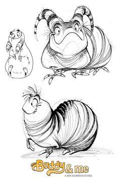 Afbeeldingsresultaat voor caterpillar character design