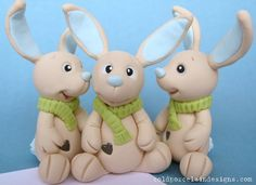 jack rabbits  done by Cold Porcelain Designs, via Flickr