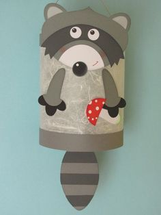 Laterne Basteln Kinder A candy new addition to Piratenbraut's animal parade: Winni raccoon is right Saint Martin, Paper Crafts, Diy Crafts, Racoon, Woodland Party, Washing Clothes, Minion, Etsy, Crafts For Kids