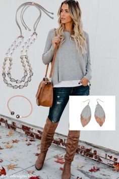 "Premier Designs Rose gold accents add dazzling dimension to this elegant necklace. Rose gold tone, faux suede, acrylic, 16""-34"" necklace with adjustable sliding closure. #kneehighboots"
