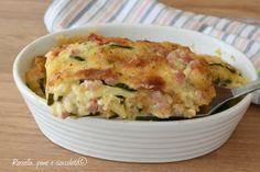 Il pasticcio di zucchine e' un secondo piatto completo sfizioso e da fare in pochissimo tempo in certi casi risolve la cena!
