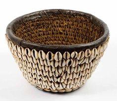 Nigeria - Hausa cowrie shell basket