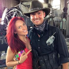 @DWTS360 @SharnaBurgess @NickCarter #StunningDancer/Choreographer Sharna on set w/Talented Nick Carter~TeamSharnick