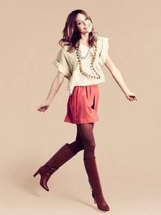 Look H&M, com Sasha Pivovarova...Outono 2011