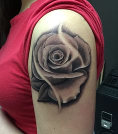 34951c1ab Rose tattoo by Tyler. Limited availability at Salvation Tattoo Studios.