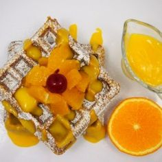 Comforting gingerbread waffles with orange curd make for the perfect start of a winter day or dessert Waffle Recipes, Brunch Recipes, Breakfast Recipes, Dessert Recipes, Do It Yourself Food, Pancakes And Waffles, Pinterest Recipes, Eat Breakfast, I Love Food
