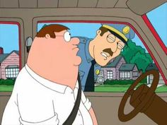 Peter Gets Pulled Over by a Cop - Family Guy