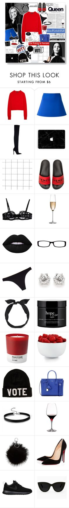 """""""VOTE BEFORE IT'S TOO LATE!"""" by sdesigner102 ❤ liked on Polyvore featuring Equipment, DKNY, Zara, Givenchy, La Perla, RogaÅ¡ka, Lime Crime, Chico's, Chantelle and yunotme"""