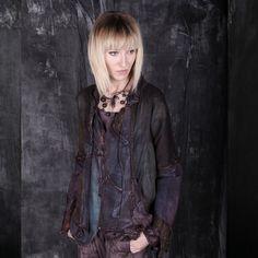 De merveilleuses fondues de couleurs pour un style original que je qualifierais d'Art.Tatiana Palnitska - One of one, unique couture clothing for women.