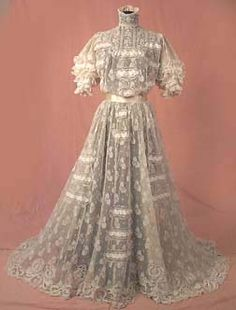 To assist w antique doll clothing design. 1907