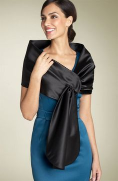 Satin stole, shrug, bolero pattern from Weekend designer | great blog for sewing/patternmaking