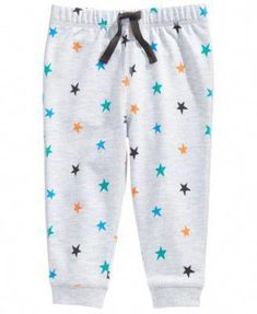 First Impressions Baby Boys Star-Print Jogger Pants, Created for Macy's - Gray 24 months Little Girl Leggings, Toddler Leggings, Baby Leggings, Girls Leggings, Leggings Are Not Pants, Toddler Girl Style, Toddler Boys, Baby Boys, Jogger Pants