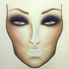 MAC makeup sketch.