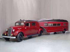 1938 Curtis Aerocar - adore the trailer! #vintage #1930s #cars