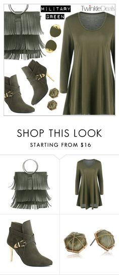 """""""Military Green with TwinkleDeals"""" by simona-altobelli ❤ liked on Polyvore featuring Panacea"""