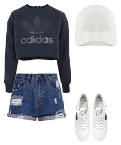 """""""Untitled #332"""" by xolafkax on Polyvore featuring adidas and Marc Jacobs"""