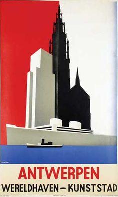 Jozef Winters (1911-1981) - Antwerpen Wereldhaven-Kunststad 1935