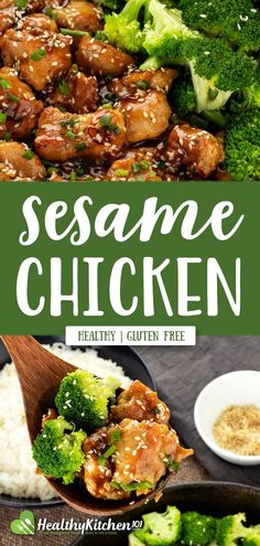 Healthy Sesame Chicken Recipe: A Lighter Version of The Well-known Dish Healthy Sesame Chicken, Gluten Free Chinese, Chicken Chunks, Weight Loss Meals, Keto, Healthy Eating Recipes, Easy Dinner Recipes, Dinner Ideas, Easy Recipes