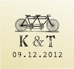 Items similar to Vintage MONOGRAM Bike design typewriter font rubber stamp clear block mounted -style - custom wedding stationary on Etsy Wedding Logo Design, Wedding Logos, Wedding Stationary, Wedding Designs, Wedding Cards, Bicycle For Two, Tandem Bicycle, Bicycle Wedding, Vintage Monogram