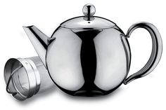 Cafe Ole Rondeo single wall Infuser Teapot with high quality stainless steel finish