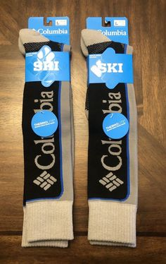 12b34f71c1977 BRAND NEW COLUMBIA Ski Thermolite Over the Calf socks Black Gray  fashion   clothing  shoes  accessories  unisexclothingshoesaccs  unisexaccessories  (ebay ...