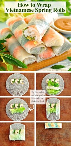 Xtreme Fat Loss - Comment faire de parfaits rouleaux de printemps - How to Make Vietnamese Rice Paper Rolls Completely Transform Your Body To Look Your Best Ever In ONLY 25 Days With The Most Strategic, Fastest New Year's Fat Loss Program EVER Developed Healthy Snacks, Healthy Eating, Healthy Recipes, Healthy Vietnamese Recipes, Asian Snacks, Healthy Detox, Asian Foods, Diet Snacks, Vietnamese Rice Paper Rolls