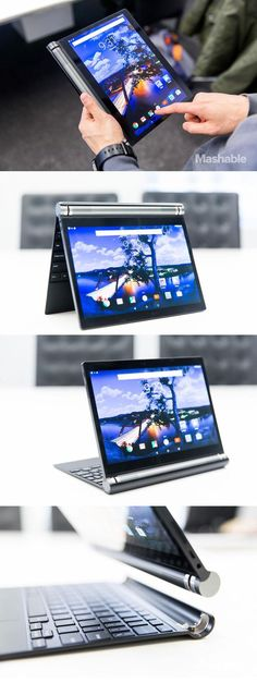 The Dell Venue has a hinge that allows it to be set up in variety positions, including a tradition chromebook, tent mode and stand mode.: