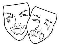 theatre mask cake - Google Search