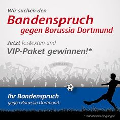 Sie wollen beim Heimspiel von Hertha BSC gegen Borussia Dortmund dabei sein, haben aber kein Ticket mehr bekommen? Dann zeigen Sie Ihre Kreativität und gewinnen Sie das VIP-Paket zum Saisonfinale im Olympiastadion Berlin.