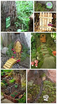you been searching for inspiration for your fairy garden? There are so many fairy garden ideas out there, you will love all of these magical ideas! Diy Fairy Door, Fairy Doors On Trees, Fairy Tree Houses, Fairy Garden Doors, Fairy Garden Houses, Gnome Garden, Fairies Garden, Diy Jardim, Large Fairy Garden