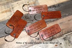 $22 Marco Family Trip Luggage Bag Tag Couples Trip Leather Tag by MegansMark