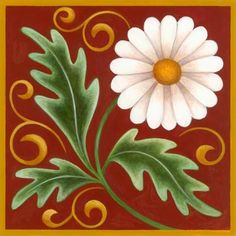 Medium Flower Petals, Flower Art, Poster Rangoli, Decoupage, Art Populaire, Tile Crafts, Tuile, Barn Quilts, Mosaic Patterns