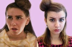 I Tried All of Shoshanna's Craziest Hairstyles From 'Girls'  - ELLE.com