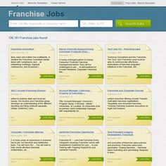 Franchise Jobs - Click image to find more job in your area.
