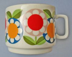 No 39: vintage cup with flowers by fmr bavaria by OldLikeUs on Etsy