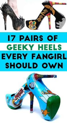 17 Gorgeous And Geeky Pairs Of High Heels AAAAHHHH I can't get past how hot those star trek shoes are lol