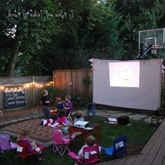 "See our web site for more relevant information on ""patio furniture sets"". It is actually an excellent place to learn more. Backyard Movie Night Party, Backyard Movie Screen, Outside Patio, Cottage Interiors, Backyard Landscaping, Backyard Ideas, Backyard Patio, Furniture Sets, Furniture Layout"