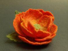 Felt Flower Brooch - Needle Felted Brooch.