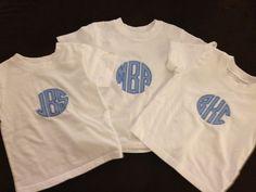 Circle monogrammed shirts