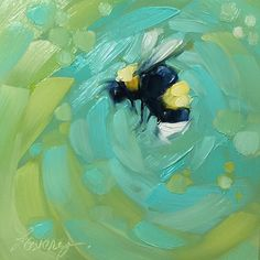 "4x4"" oil on panel 