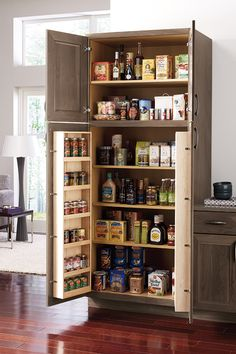 Organization is the key to a stylish kitchen. Whether you have a small or large space, Omega has the storage you need for a beautiful and functional kitchen. Kitchen Pantry Design, Kitchen Cabinet Organization, New Kitchen, Kitchen Storage, Kitchen Ideas, Custom Kitchen Cabinets, Kitchen Furniture, Kitchen Interior, Furniture Storage