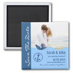 Nautical Wedding Save The Date Magnet