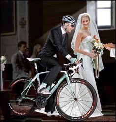 Hahha He's the man!    #bicycles   #bicyclewedding