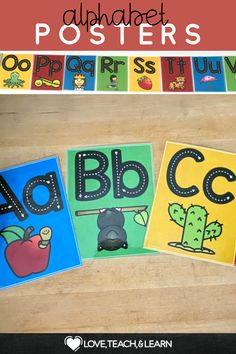 Do your students need help with remembering letter sounds. These bright posters are great visual reminders of basic letter sounds as well as handwriting letter formation. This PDF includes: • 26 Colorful Posters for Each Letter • 26 Colorful Posters with a White Background for Each Letter Comes in full page, half page, and quarter page sizes. #kindergarten #preschool