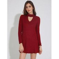#trendsgal.com - #Trendsgal Ribbed Tunic Dress - AdoreWe.com